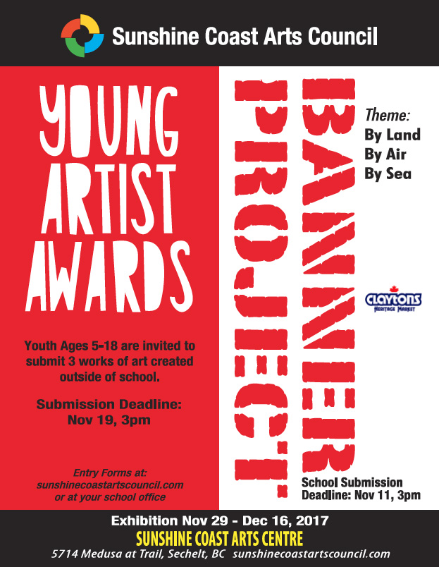 Young artists awards banner project exhibit