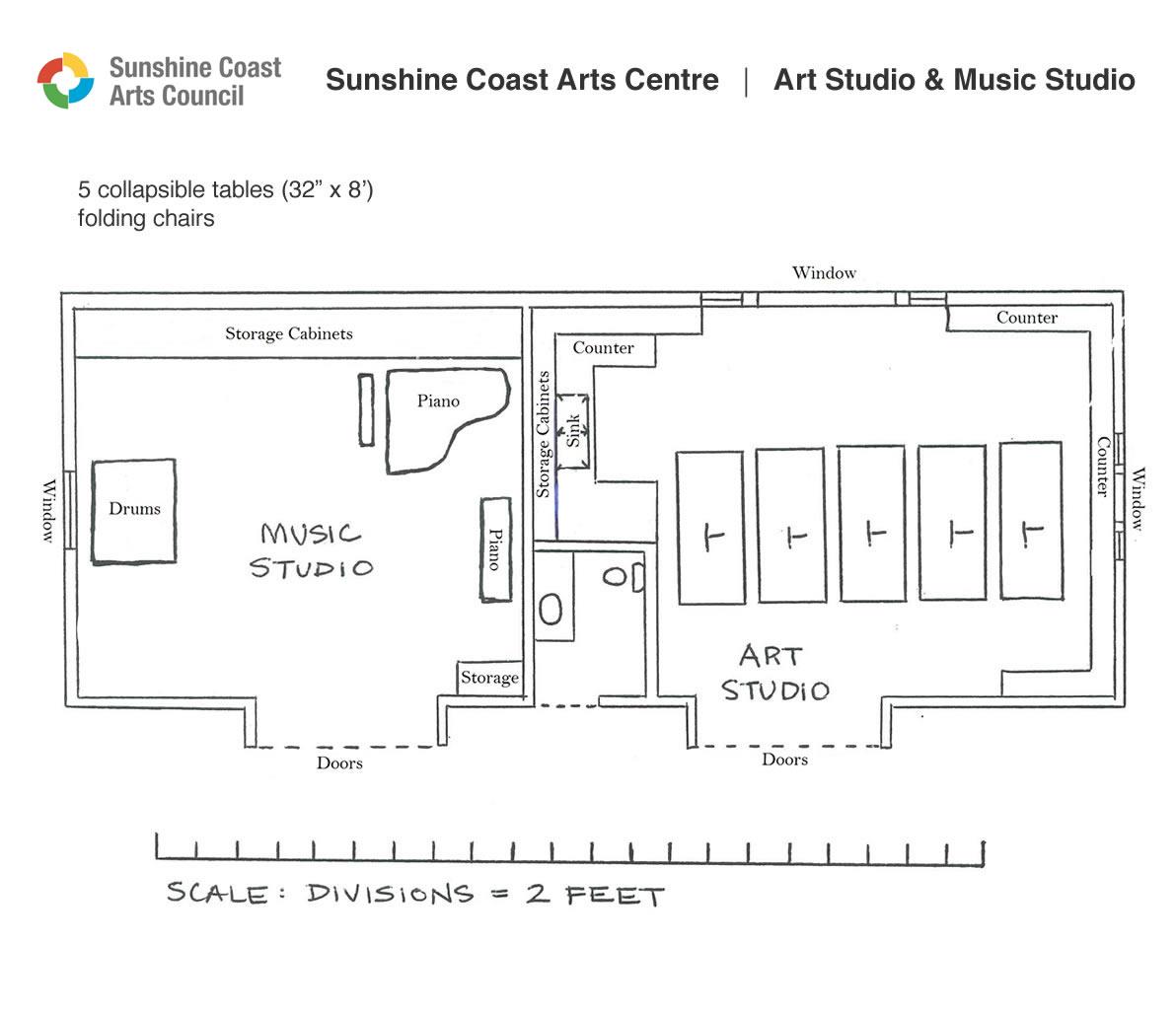 Floor Plan Sunshine Coast Arts Council