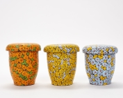 small colourful pots